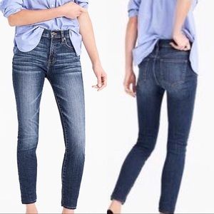 "J. Crew 9"" High-rise Toothpick Jeans"